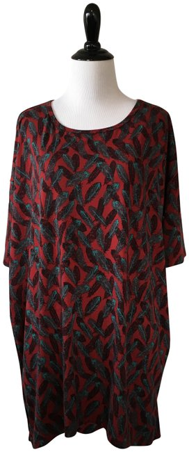 Item - Red and Blue Irma Tunic Size 6 (S)