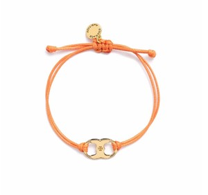 Tory Burch New Tory Burch Embrace Ambition Silk Gemini Bracelet Orange