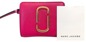 Marc Jacobs Red Pink Leather Compact Wallet