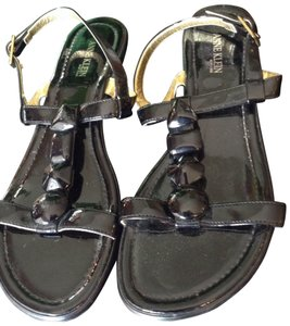 Anne Klein Black Patent Sandals