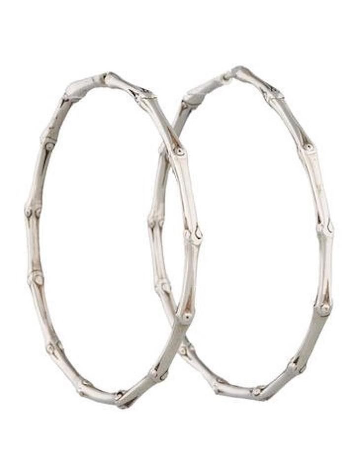 John Hardy Sterling Silver Large Bamboo Hoops