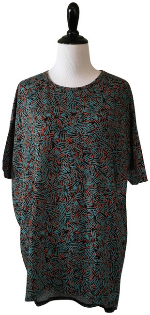 Item - Blue and Red Irma Tunic Size 00 (XXS)