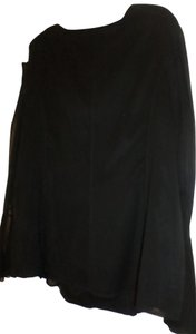 Kay Unger Silk Top BLACK