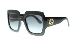 Gucci GUCCI GG0053S 001 Black Square Sunglassses Brand New!!