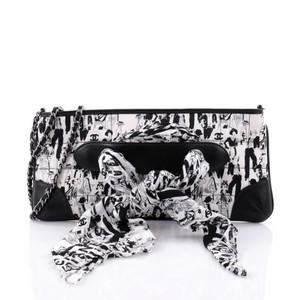 Chanel Limited Edition Scarf black and white Clutch