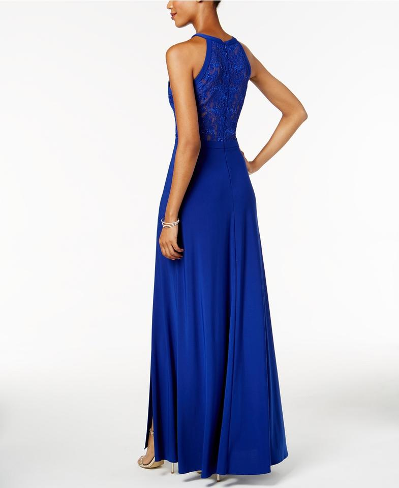 Night Way Collections Twilight Off-the-shoulder Slit Gown