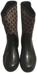 Michael Kors Black with brown accents Boots