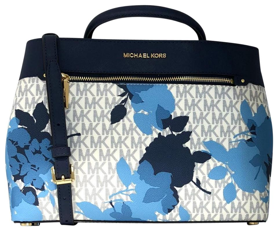 fd70a27511ef Michael Kors Set Of 2 Items Handbag And Wallet Hailee Trifold Wallet  Satchel in Signature MK ...