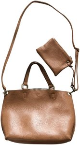 Free People Tote in tan and silver