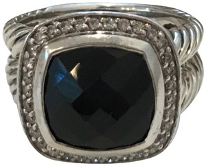 David Yurman Albion® Ring with Black Onyx and Diamonds, 11mm