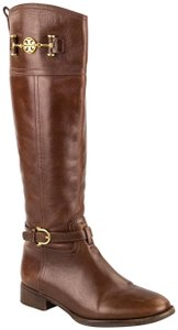 Tory Burch Leather Nadine Riding Knee High Brown Boots