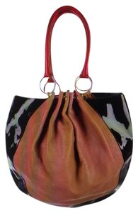 Ted Baker Tote in Black Patent-Red Leather-mauve,pink tone leather