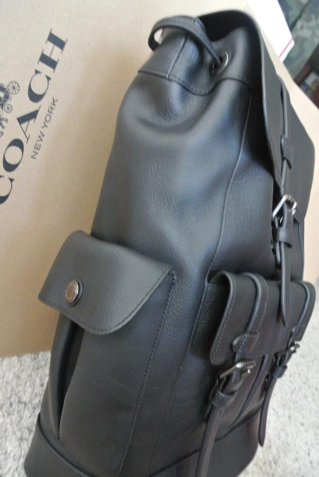 Coach Hudson F23202 Fits 13 Inch Macpro Black Leather Backpack - Tradesy 0538a09cd9826
