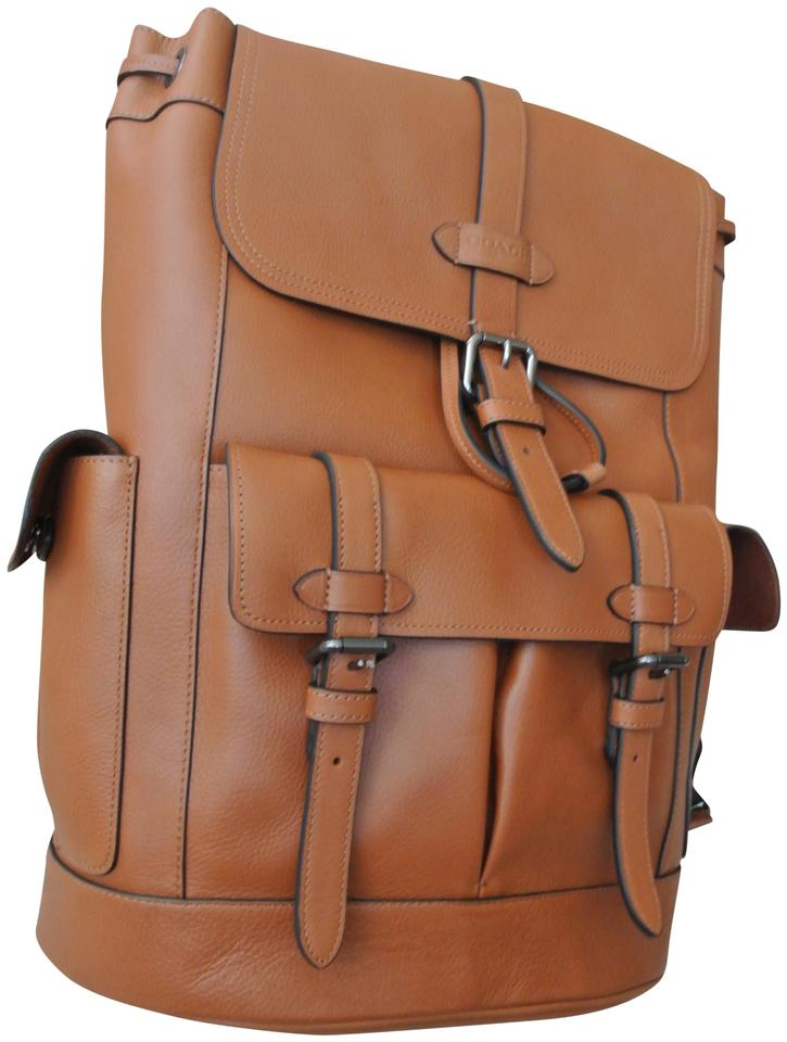 Coach Hudson Moving-sale F23202 Qb / Saddle Leather Backpack 50% off retail
