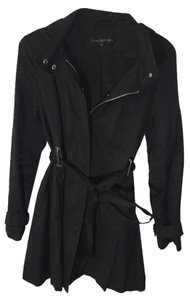 Via Spiga Spring Trench Hooded Black Jacket