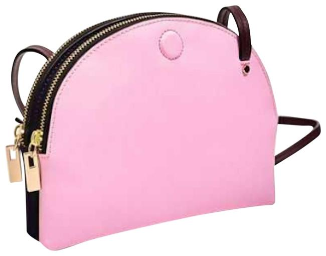 Item - Multicolor Reversible Pink Blue Nude Brown Synthetic Cross Body Bag
