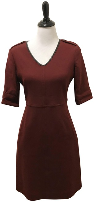 Item - Burgundy With Pockets Mid-length Casual Maxi Dress Size 8 (M)
