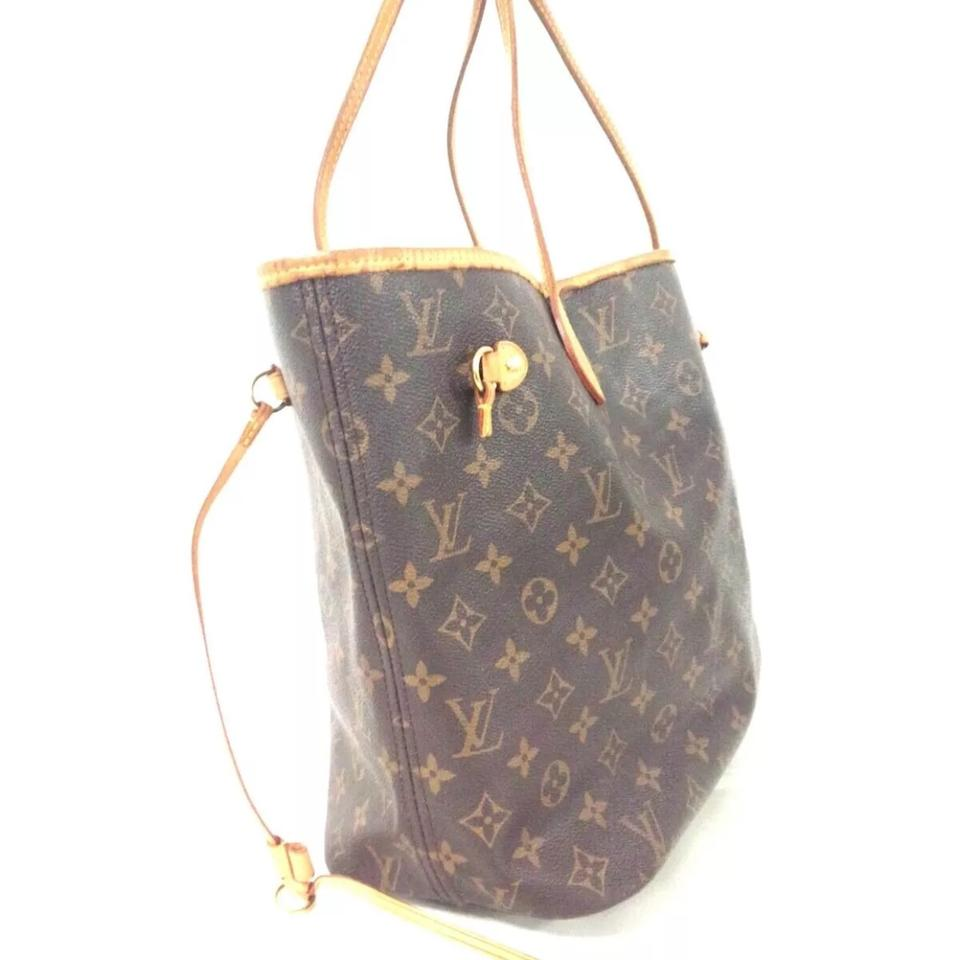Louis Vuitton Neverfull Mm Monogram With Beige Lining Brown Canvas Tote Tradesy