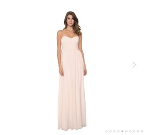 Monique Lhuillier Blush Chiffon Madeline Traditional Bridesmaid/Mob Dress Size 8 (M)
