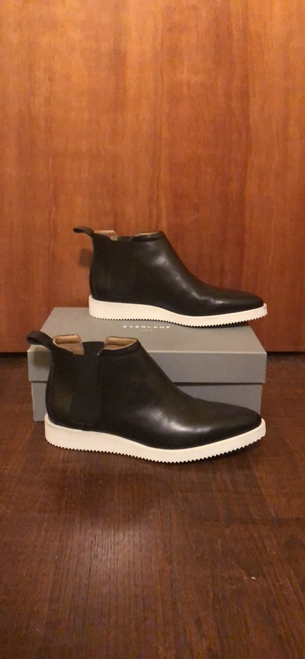 08d08011589a2 Everlane Black Street Ankle Boots Booties Size US 10.5 Regular (M