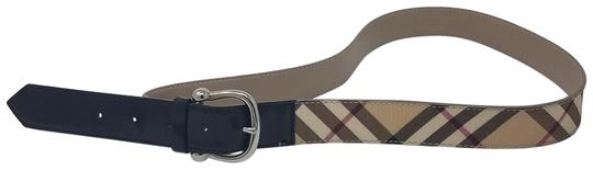 Brown Beige Black Red Multicolor Nova Check Plaid Belt by Burberry