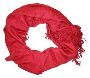 Collection XIIX Ltd. COLLECTION XIIX Ltd. Red Viscose Shawl Wrap Scarf