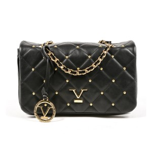 Versace 19.69 Leather Italian Gold Chain Quilted Cross Body Bag