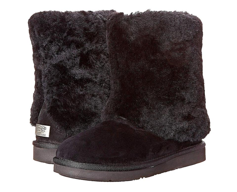 4a7debe8e65 UGG Australia Black Patten Water Resistant Suede Shearling Boots/Booties  Size US 8 Regular (M, B) 27% off retail
