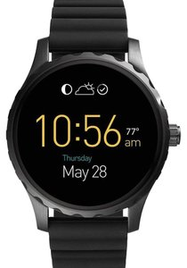 Fossil Fossil Q Gen 2 Marshal Black Silicone Touchscreen Smart Watch FTW2107