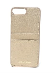 Michael Kors MICHAEL KORS SNAP ON CASE 4 IPHONE 7 PLUS CARD CASE BAG WALLET GOLD