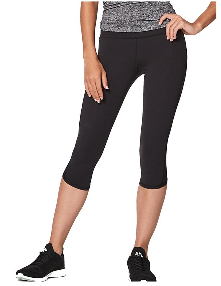 58f1f3ee107ac1 Lululemon Black Women'sblack Train Times Crop Activewear Sportswear ...