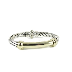 David Yurman David Yurman Sterling Silver 14K 7mm Gold Bar Metro Bracelet