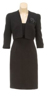 Tahari Tahari Black Cropped Jacket and Sleeveless Dress Set (Size 2)