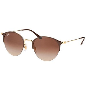 Ray-Ban Ray Ban Sunglasses RB3578 900913 Brown Gold Frame Brown Gradient Lens