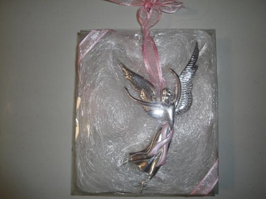 Serenity Courage Serenity Courage Angel Pink Breast Cancer Ribbon Christmas Tree Window Ornament