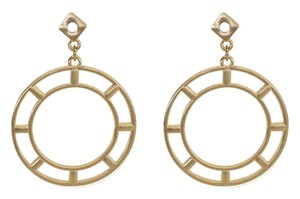Other Gold Drop Hoop Earrings