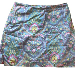 EP Pro Skirt Blue light green pinks yellows