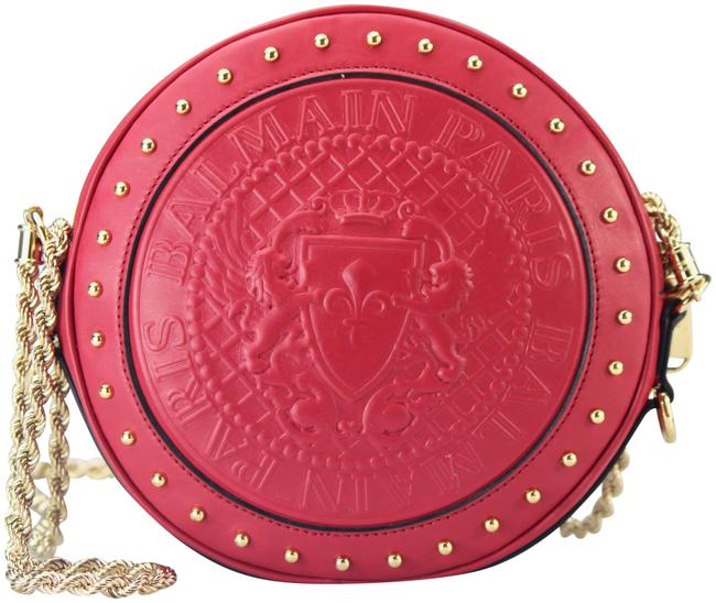 Item - Disco Embossed Red Leather Cross Body Bag