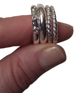 Banana Republic Stackable silver tone rings