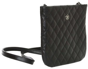 Chanel Quilted Leather Cc Cross Body Bag