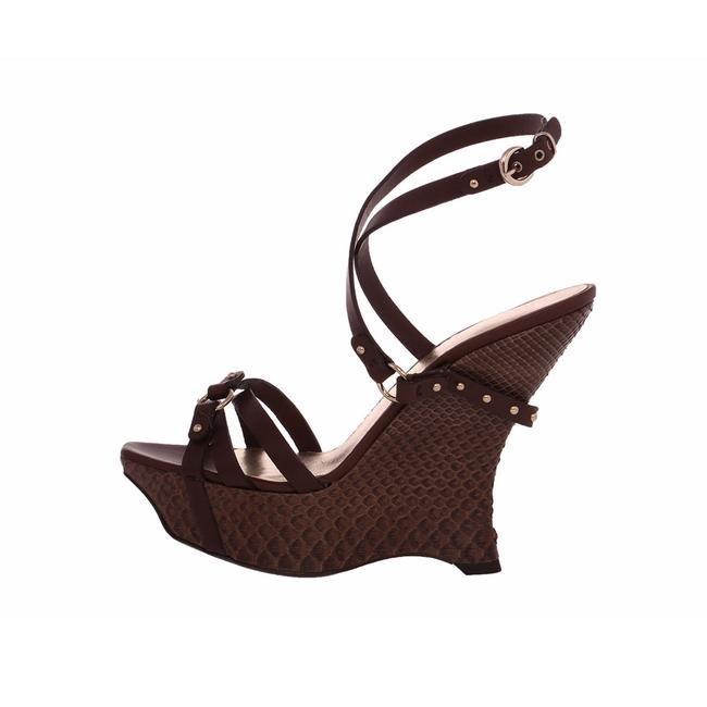Item - Brown Marrone + Cacao Snakeskin Strappy Wedges Size EU 40 (Approx. US 10) Regular (M, B)