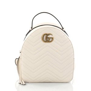 9c656ddbb Gucci Marmont Matelasse Small Off-white Leather Backpack - Tradesy
