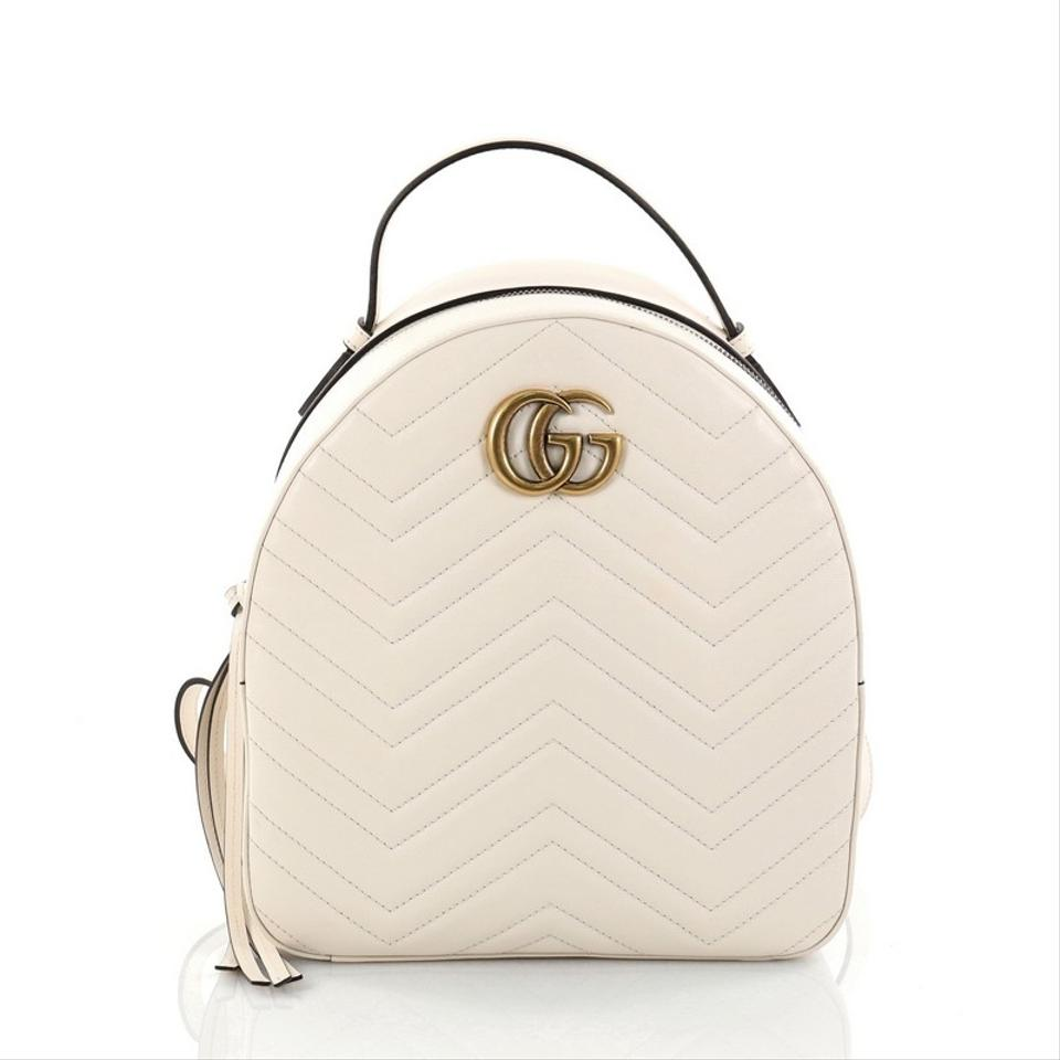 dfb69096747 Gucci Marmont Matelasse Small Off-white Leather Backpack - Tradesy