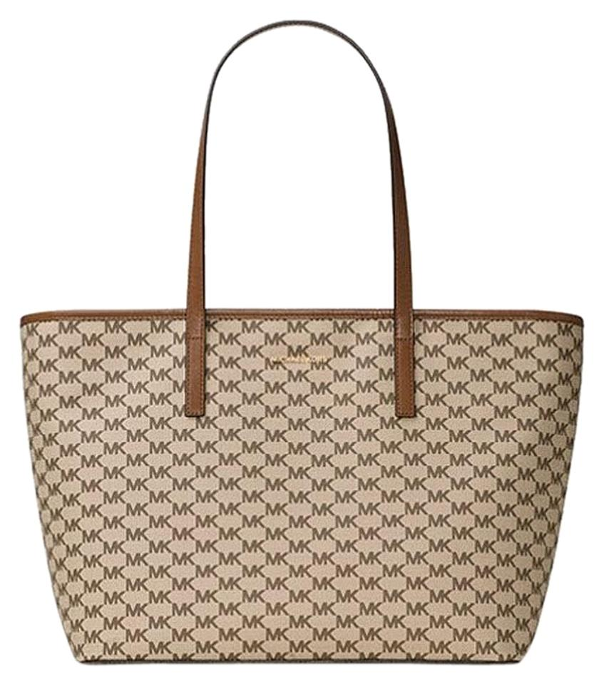Michael Kors Studio Emry Large Top Zip Logo Multicolor Canvas Tote ... af1f15a6fcd8f