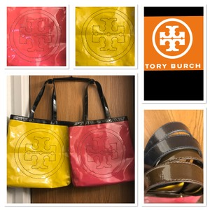Tory Burch Tote in Yellow &Navy / Pink & Brown