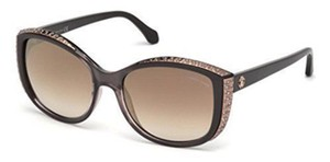 Roberto Cavalli Roberto Cavalli Women Sunglasses RC1015 Dark Brown Frame Brown Lens