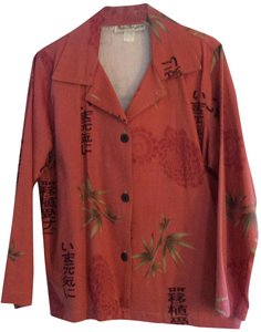 Norm Thompson Button Down Shirt CORAL