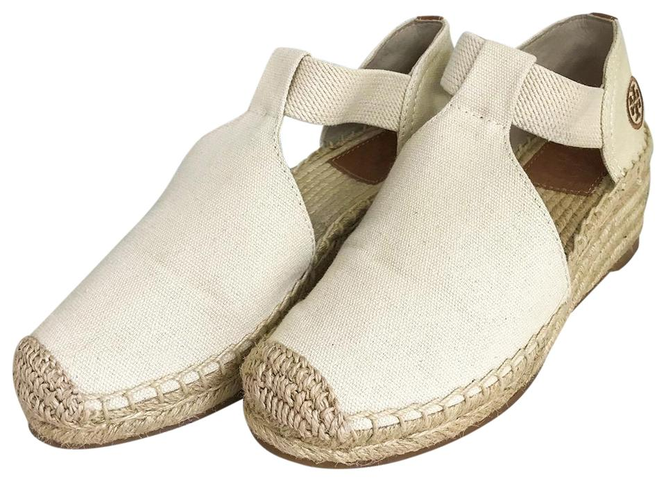 e995e264d88d Tory Burch Neutral Catalina Espadrille Sandals Women s Wedges Size ...