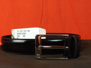 Gucci Black Lux Patent Leather Gg Logo Square Buckle Belt 95/38 #345658 Men's Jewelry/Accessory