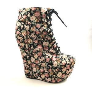 Jeffrey Campbell Wedges Floral Boots